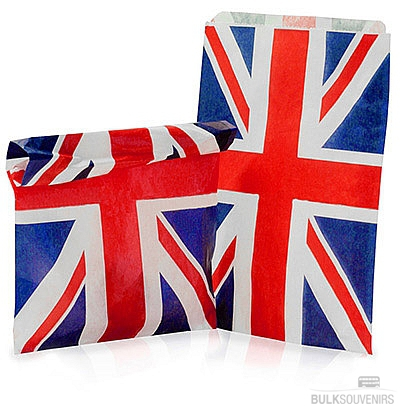 10x Union Jack Paper Gift Bags