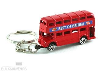 12x Red Double Decker Bus Keyrings Bulk Souvenirs Offer