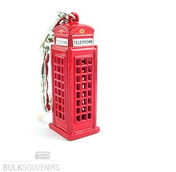 12x Telephone Box Keyrings Bulk Souvenirs Special Offer