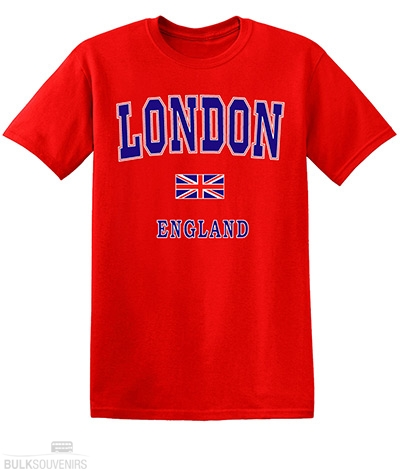 Childrens Red Capital London T-Shirt Size:1 - 2 Years
