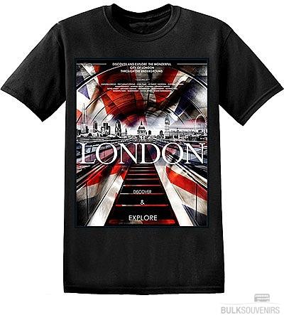 London Underground Union Jack T Shirt Size: Small