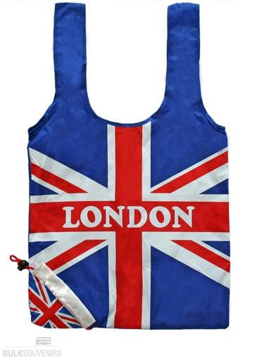 12x London Union Jack Strawberry Shopping Bags