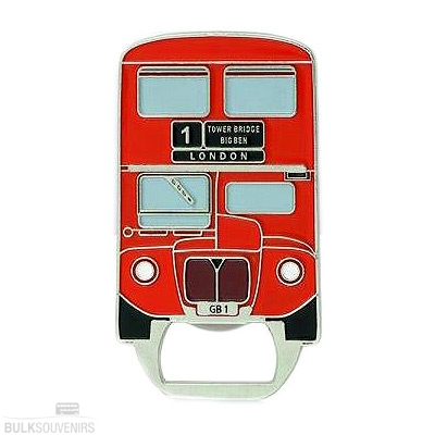 12x Metal London Bus Bottle Opener Magnets
