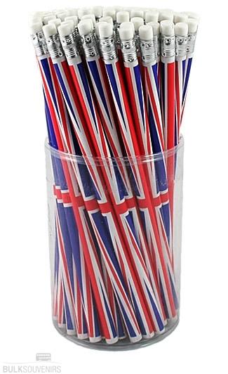 72x Union Jack Pencils